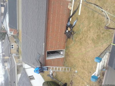 We do roofing gutters siding exterior work