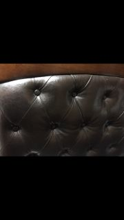 For sale Gorgeous Queen Size Real Leather Bed!