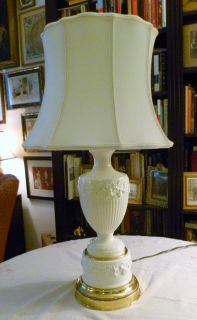 Wedgwood Queensware Urn Lamp w/ Grapevine Motif