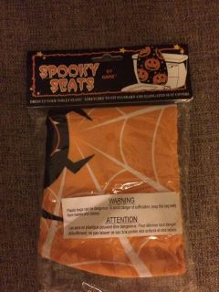 Spooky toilet seat cover new in package