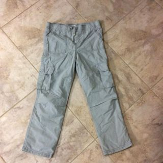 Light grey cargo size 7 pants lightly lined