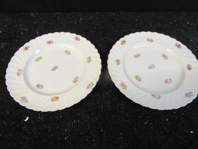 Vintage Royal Staffordshire Clarice Cliff Devonshire salad plates set of 2 nice condition