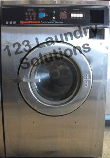 Fair Condition Speed Queen Front Load Washer 208-240v Stainless Steel SC35MD2YU40001 Used