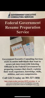 Federal Government Resume Preparation Service