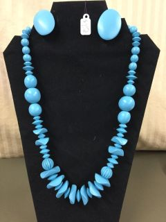 24 necklace and ear ring set