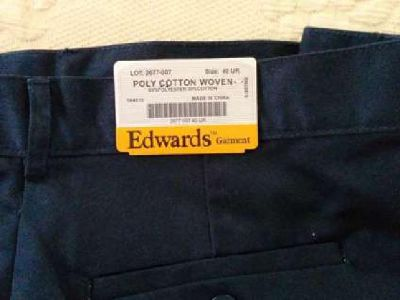 NWT EDWARDS GARMENT UTILTY PANTS 2677-007 Navy Size 40
