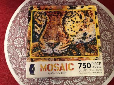Mosaic by Charlsie Kelly. 750 Piece Puzzle 24 x 18 .