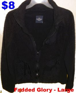 Faded Glory Black Jacket Girls Junior Large (12-14). IN PERFECT CONDITION