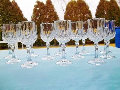 Cristal D'Arques Longchamp Cordial Glasses - Set Of 12 - L@@K!
