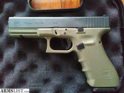 For Sale: Glock G17 Gen 4 MOS OD Green 9mm Austrian Built Factory New