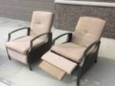 Two Outdoor recliners with cover (Fishers IN)