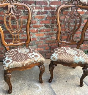 2 French side chairs