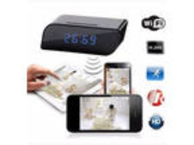 Wi-Fi Clock Alarm Hidden Camera Spy Modern Security multi