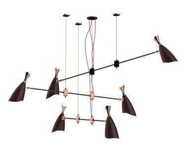 Duke Mid Century Suspension Chandelier Lamp