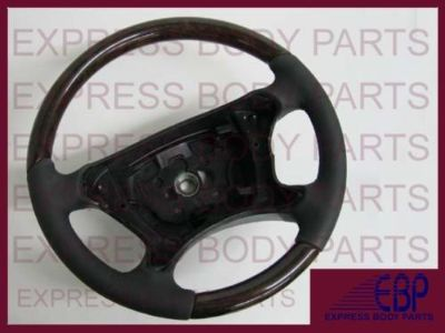 Sell MERCEDES BENZ W211 2007 2008 2009 STEERING WHEEL BLACK DARK BURL WOOD E350 E550 motorcycle in North Hollywood, California, US, for US $495.00