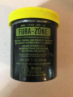 HALF FULL BOTTLE OF FURAZONE ANTIBACTERIAL OINTMENT FOR HORSES