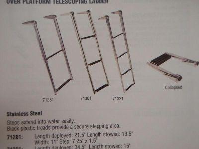Find LADDER TELESCOPING OVER SWIM PLATFORM 4 STEP 5071321 motorcycle in Osprey, Florida, US, for US $169.95