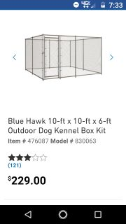Dog kennel 10 by 10 by 6