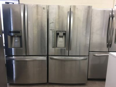 Stainless Steel French Door Refrigerator Units