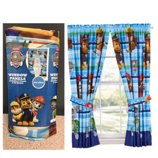 Paw Patrol Puppy Dog Fun Kids Bedroom Curtains (2 panels)