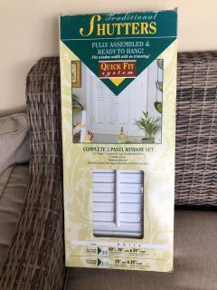 Window Shutters - quick fit system