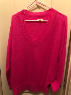 Boutique large hot pink sweater
