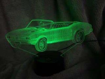 68 3D Firebird Acrylic Lamp