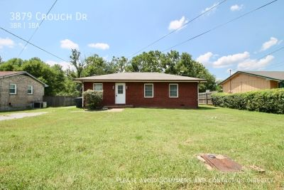 Single-family home Rental - 3879 Crouch Dr