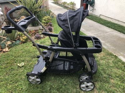 Graco sit n stand. Taken care of, a little tear in the