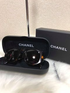 Chanel vintage Brown Quilted Gold Cc Logo Sunglasses