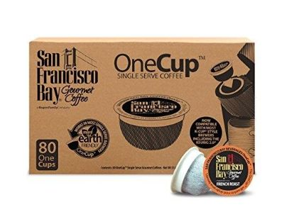 SAN FRANCISCO BAY OneCup, French Roast, 80 Count- Single Serve Coffee, Compatible with Keurig K-cup Brewers