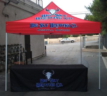 JD Inflatable's Customized Vendor Tents and Table Covers