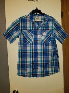 Youth boys large button up shirt