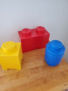 3 Piece Lego Shaped Storage Cubes