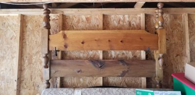 Queen size bed frame. Real wood very strong.