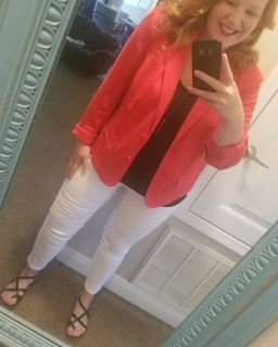 Lane Bryant size 16 red blazer