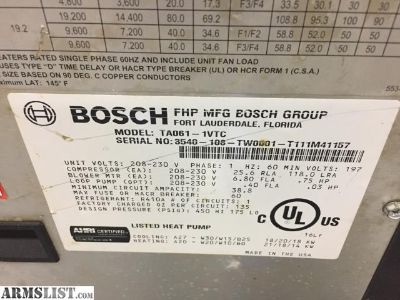 For Sale: Bosch Geothermal Heating Unit