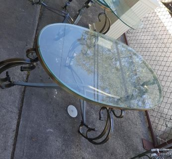 Glass coffee table 2 end tables and a sofa table