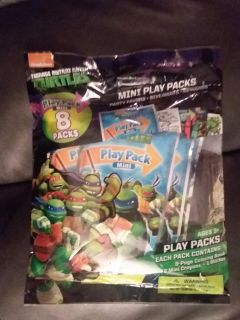 Teenage Mutant Ninja Turtle 8ct coloring books/crayons sets perfect for on the go