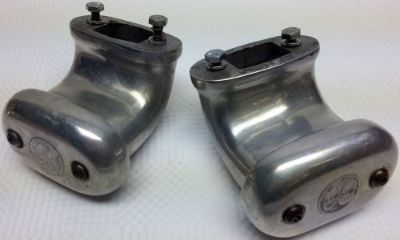 Purchase Pair honest to goodness Moon polished aluminum valve cover crankcase breathers motorcycle in Kansas City, Missouri, United States