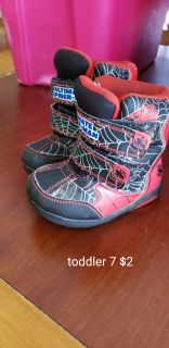 Spiderman winter boots toddler 7
