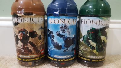 Lego Bionicle Toa Metru - Set of 3 out of 6 - 50% complete (8602 8604 8605) -
