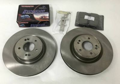 Power Stop JBR1529 Front Rotors & Brake Pads Set for Hyundai Genesis Coupe