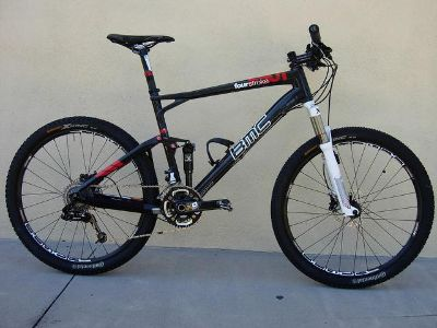 2011 BMC Fourstroke FS01 Large Full Suspension Carbon Fiber Mountain Bike