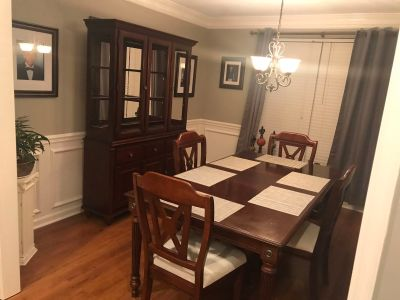 Dining table and China cabinet/buffet