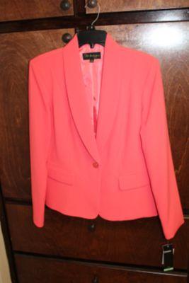 NWT women's coral blazer size 8