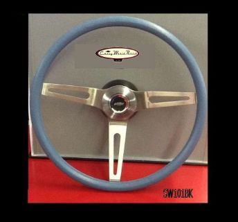 "Find CAMARO CHEVELLE NOVA 3 SPOKE COMFORT GRIP STEERING WHEEL KIT BLUE 15"" motorcycle in Bryant, Alabama, United States, for US $209.95"