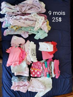 Lot of baby girl clothes 9 months