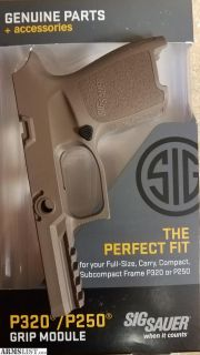 For Sale: Sig P320 FDE compact medium grip module NIB