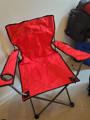 2 - Red Folding lawn chairs